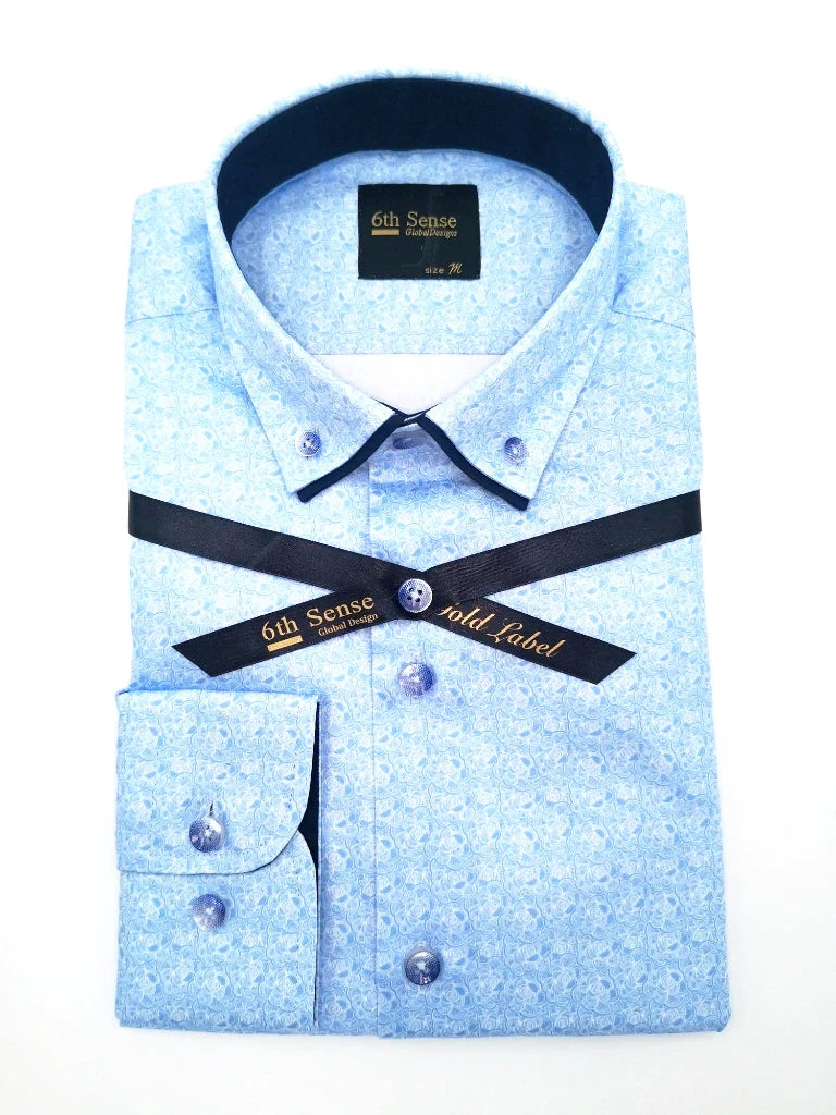 Double Collar 2B Print Shirt