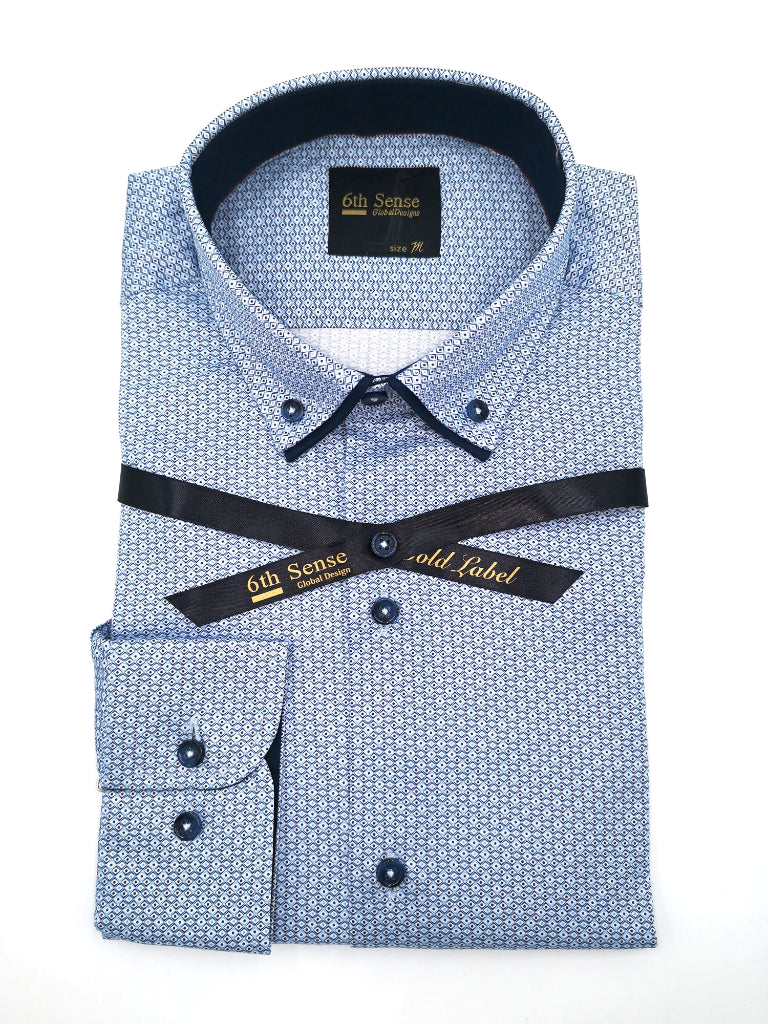 Double Collar 3 Print Shirt