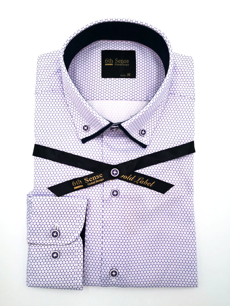 Double Collar 38 Print Shirt