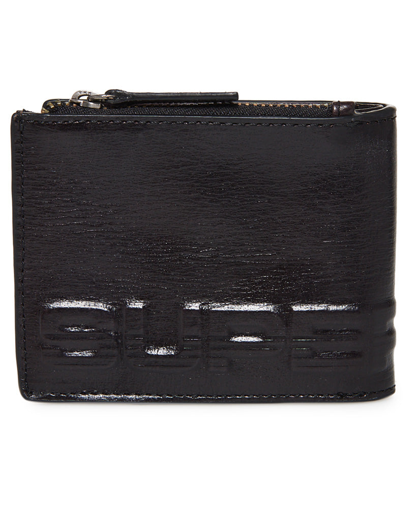 Profile Leather Black Wallet in a Tin