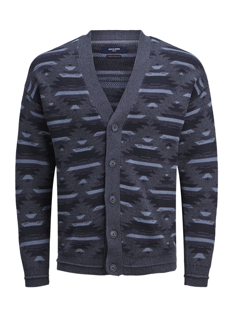 Navy Pattern West Cardigan by Jack & Jones.