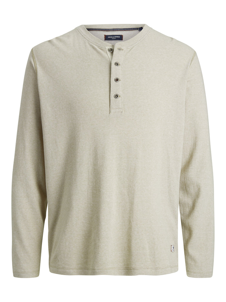 Nolan Long Sleeve Henley Crockery Tee