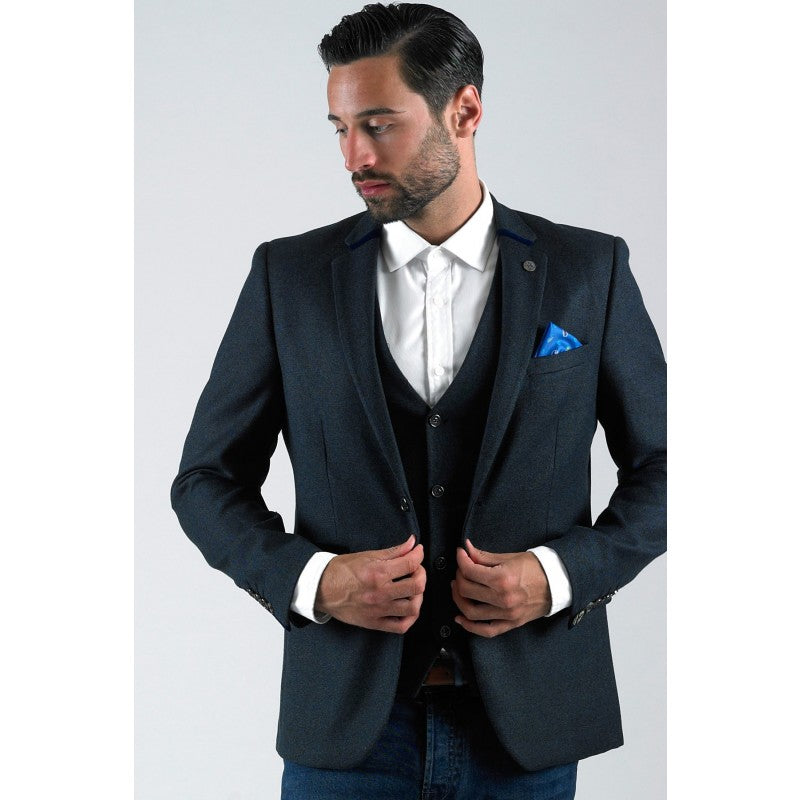 Rayford Blue Heritage Tweed Blazer by Marc Darcy