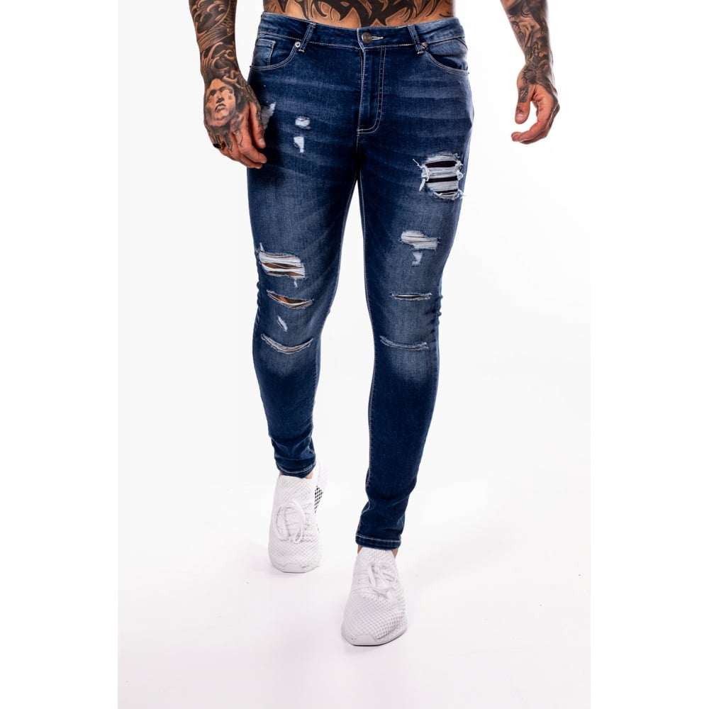 Rip and Repair Skinny Jeans Indigo by 11 Degrees