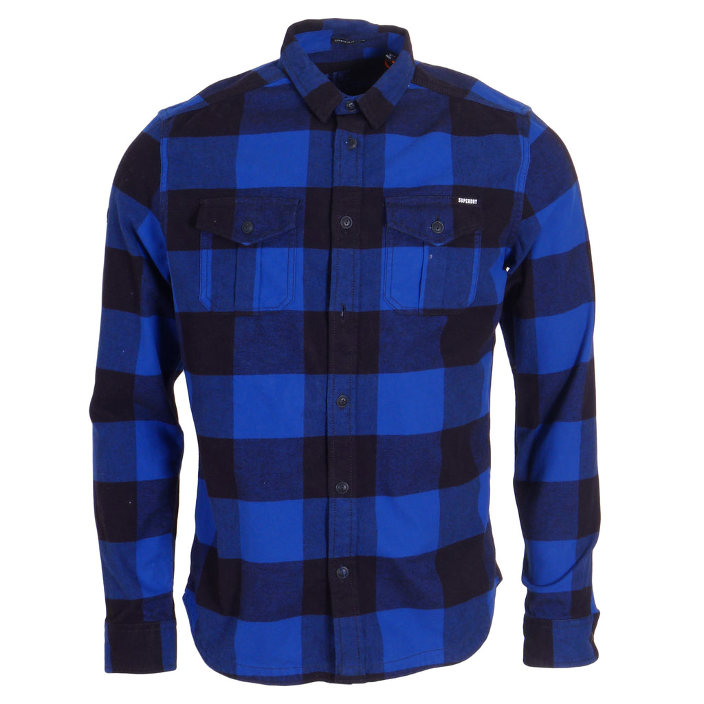 Rookie Royal Plaid Shirt by Superdry
