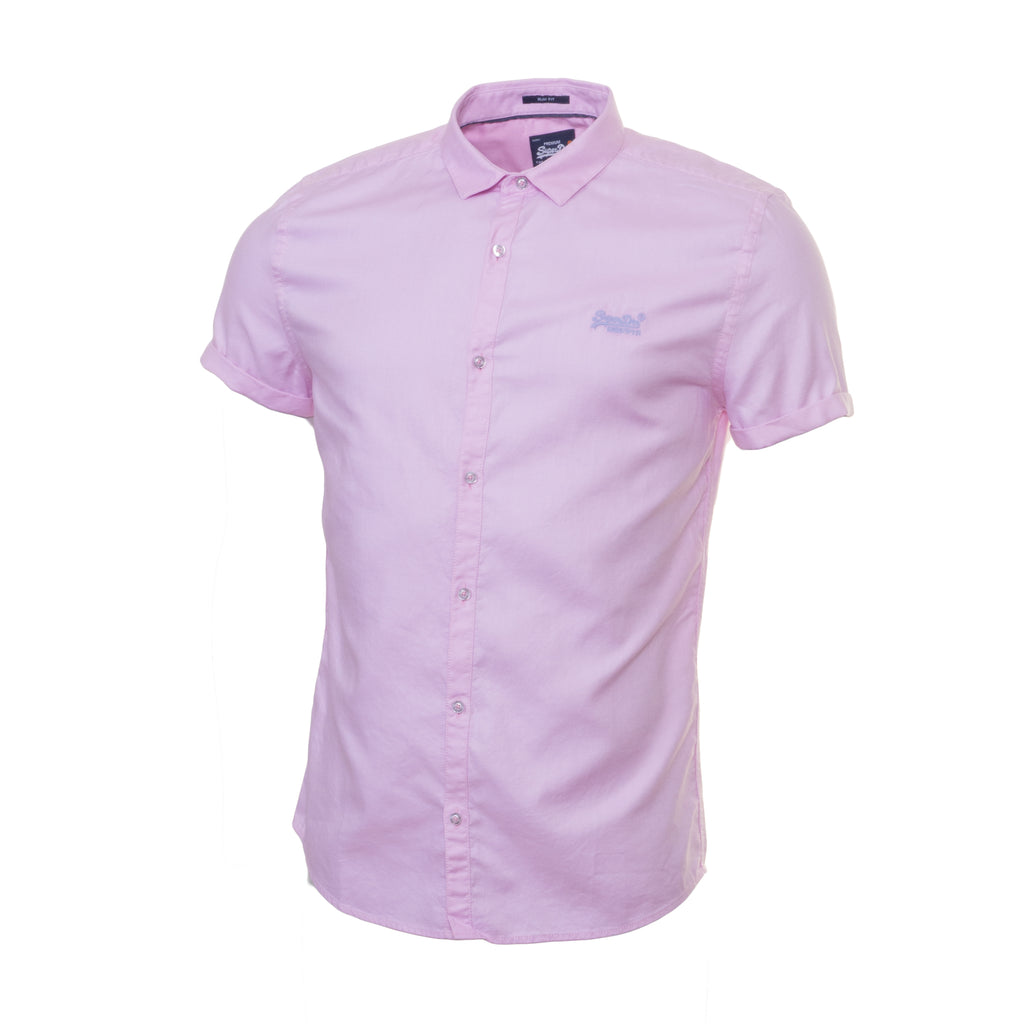 Royal Oxford Pink S/S Shirt By Superdry