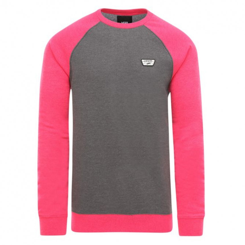 Vans Grey Crew Neck Jumper with Raglan Sleeves