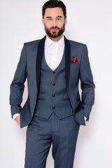 Sam Blue Tux Lapel Jacquard Blazer by Marc Darcy