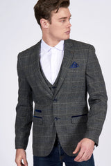 Scott Multi Check Tweed Blazer By Marc Darcy London