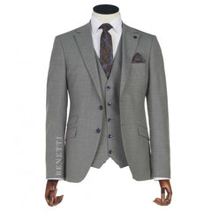 Sergio Grey 3 Piece Tapered Suit by Benetti