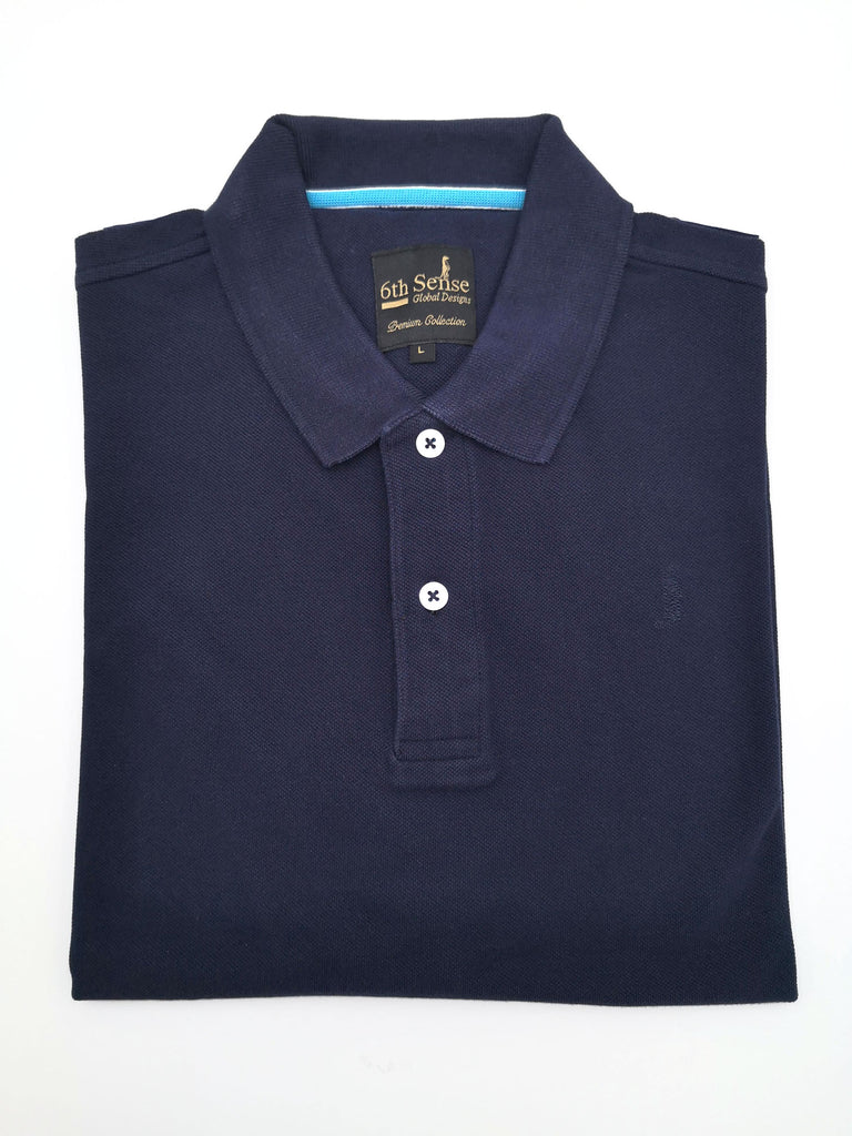 Shark Plain Navy Polo