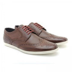 Shore Pull Up Brown Shoe By Base London