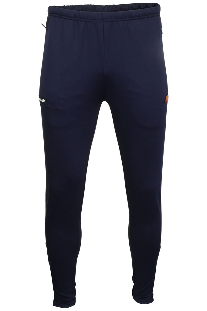 Ellesse Mens Black Run Poly Slim Fit Dress Blue Pant Jogger