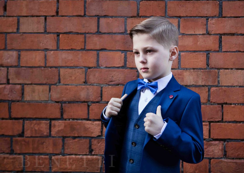 Sienna Admiral Blue 3 Piece Boys Suit By Benetti