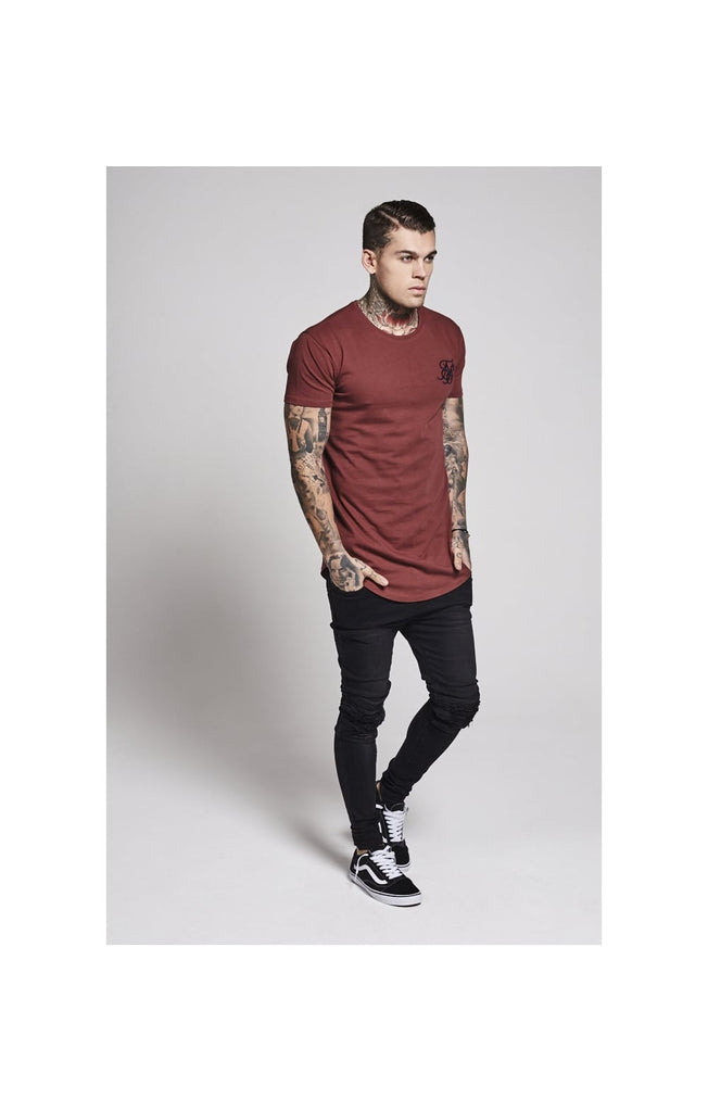 Curved Hem Tee By SikSilk