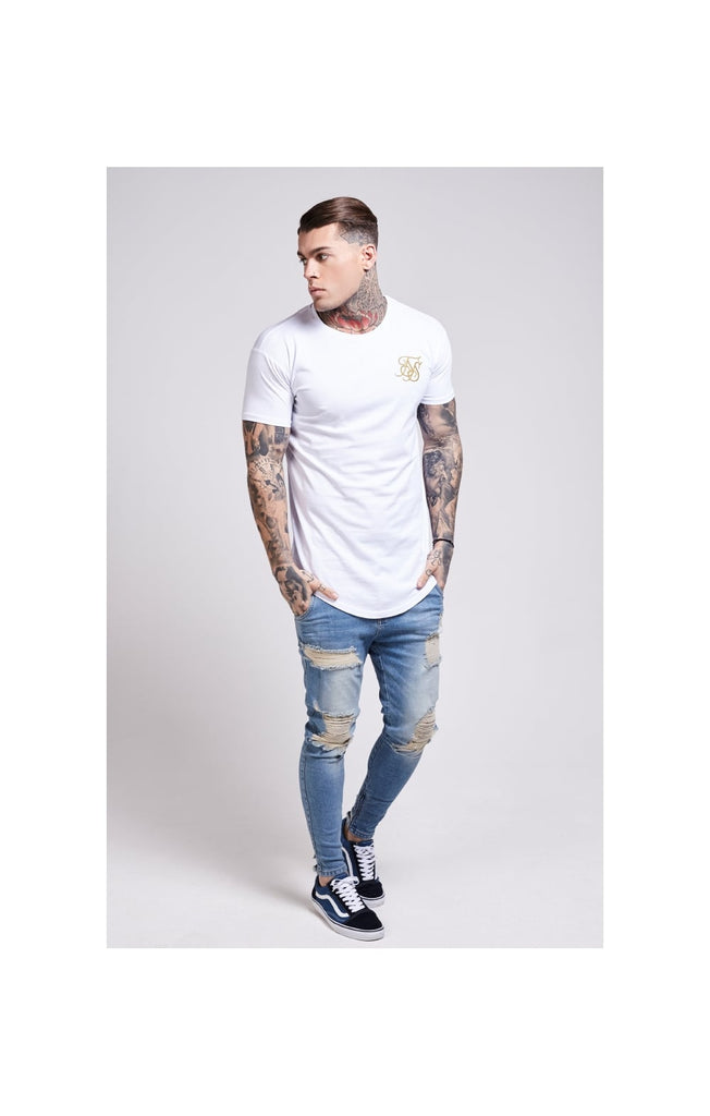 Gold Edit Curved Hem Tee By SikSilk