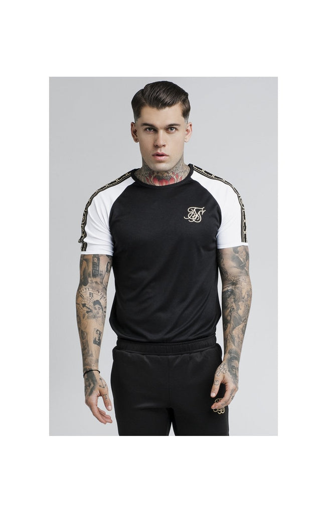 SS-13675 Performance Black Short Sleeve Tee by SikSilk.