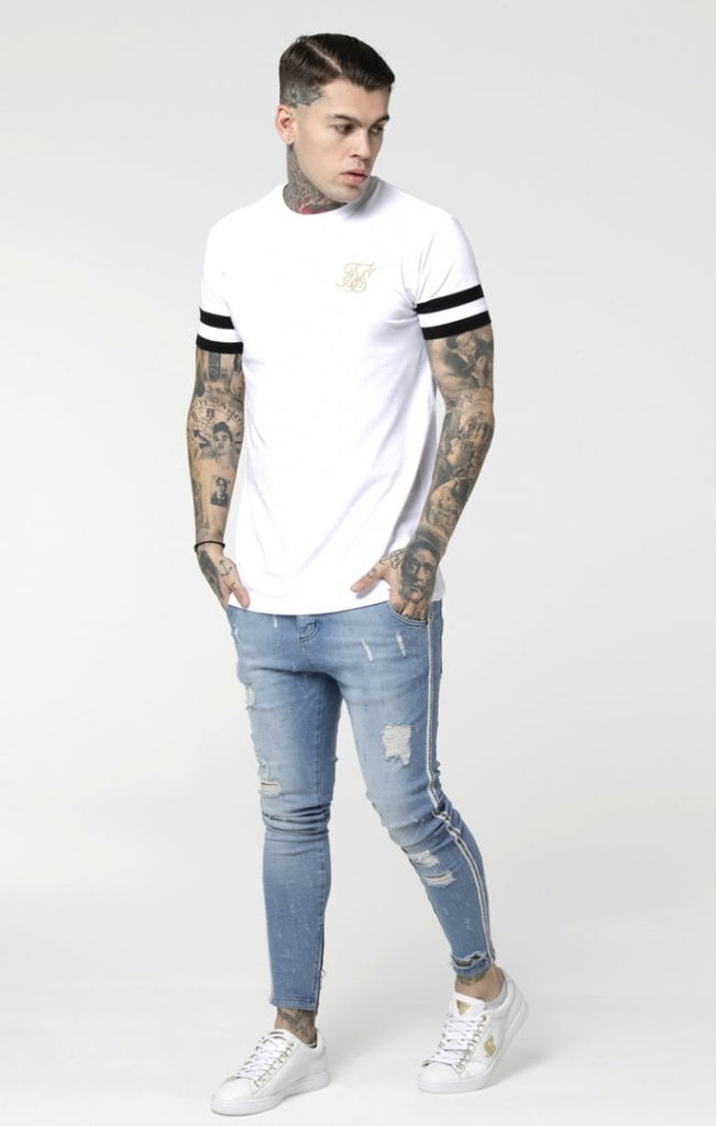 SikSilk Reverse Collar Box Tee