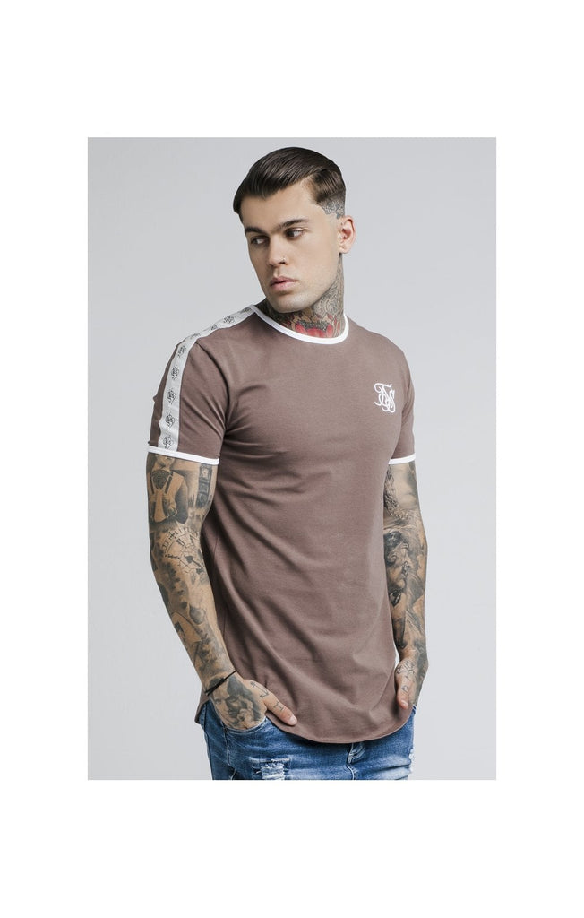 SS-13976 Curved Hem Taped Rust Gym Tee by SikSilk