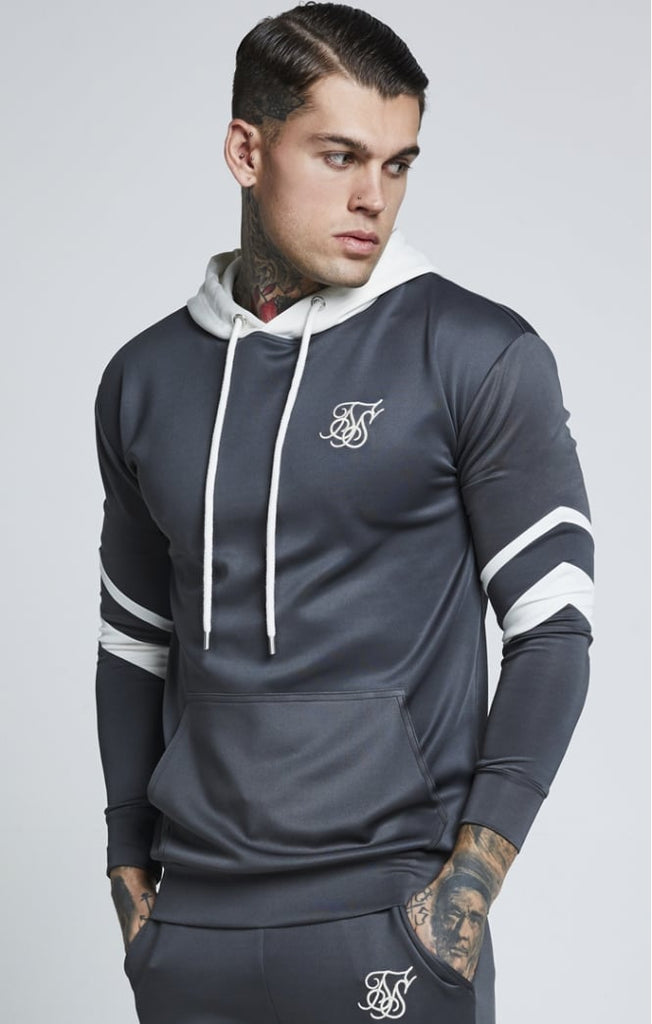 SikSilk SS-12990 Sprint Urban Green Over The Head Tracksuit Hoodie