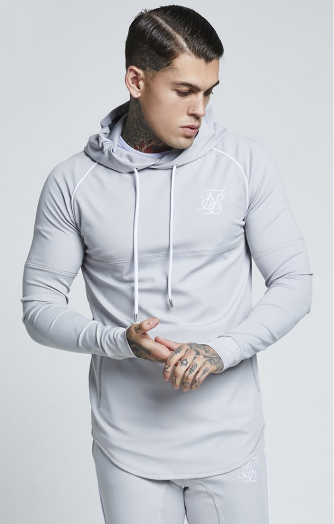 SikSilk SS-13316 Over the Head Zonal Ice Grey Track Top