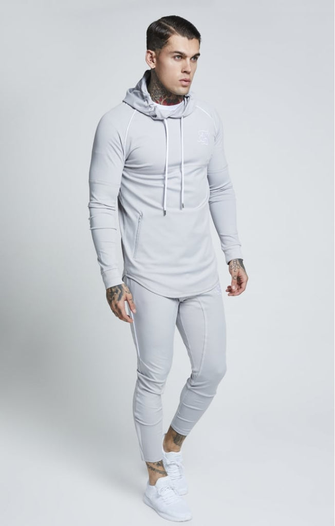 716e53dbd09b ... SikSilk SS-13316 Over the Head Zonal Ice Grey Track Top ...