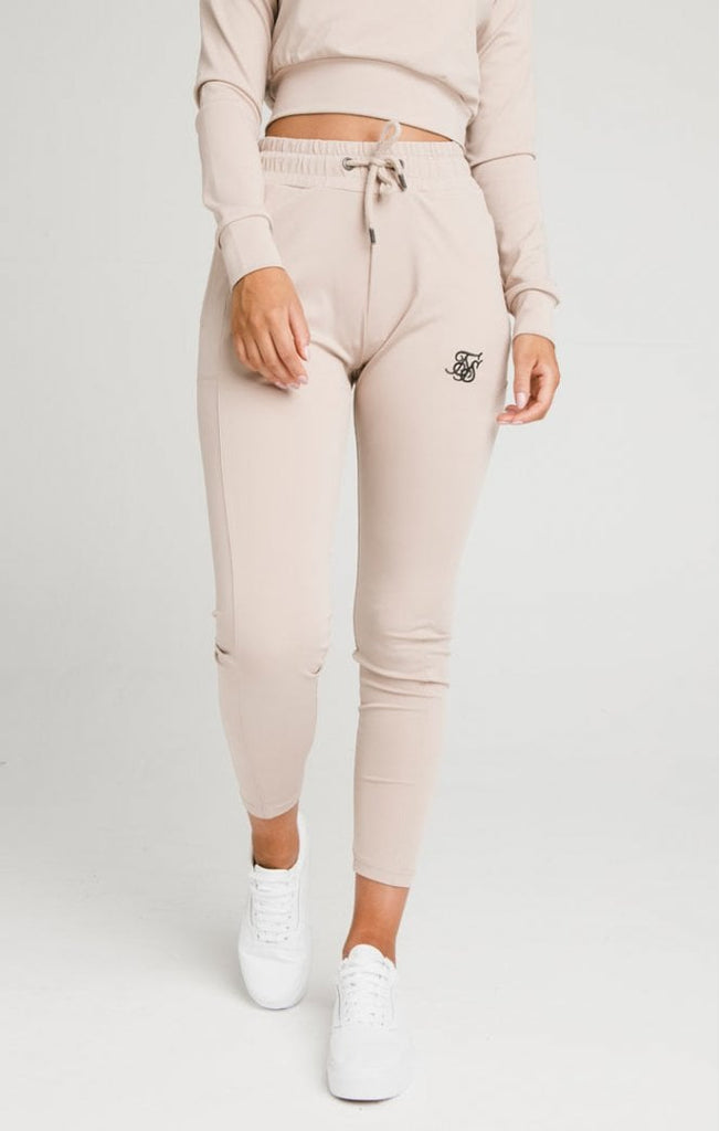 Women's Core Zonal Track Pants Beige by Sik Silk