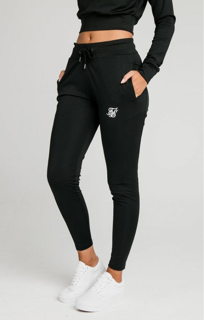 Women's Core Zonal Black Track Pants by Sik Silk