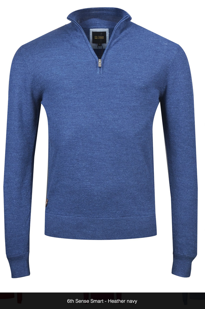 Smart 1/4 Zip Knit By 6th Sense Global Designs