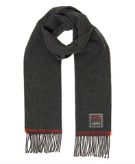 Solid Capital Tassel Scarf