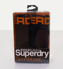 Sport Boxer Double Pack Black/Black/Orange by Superdry