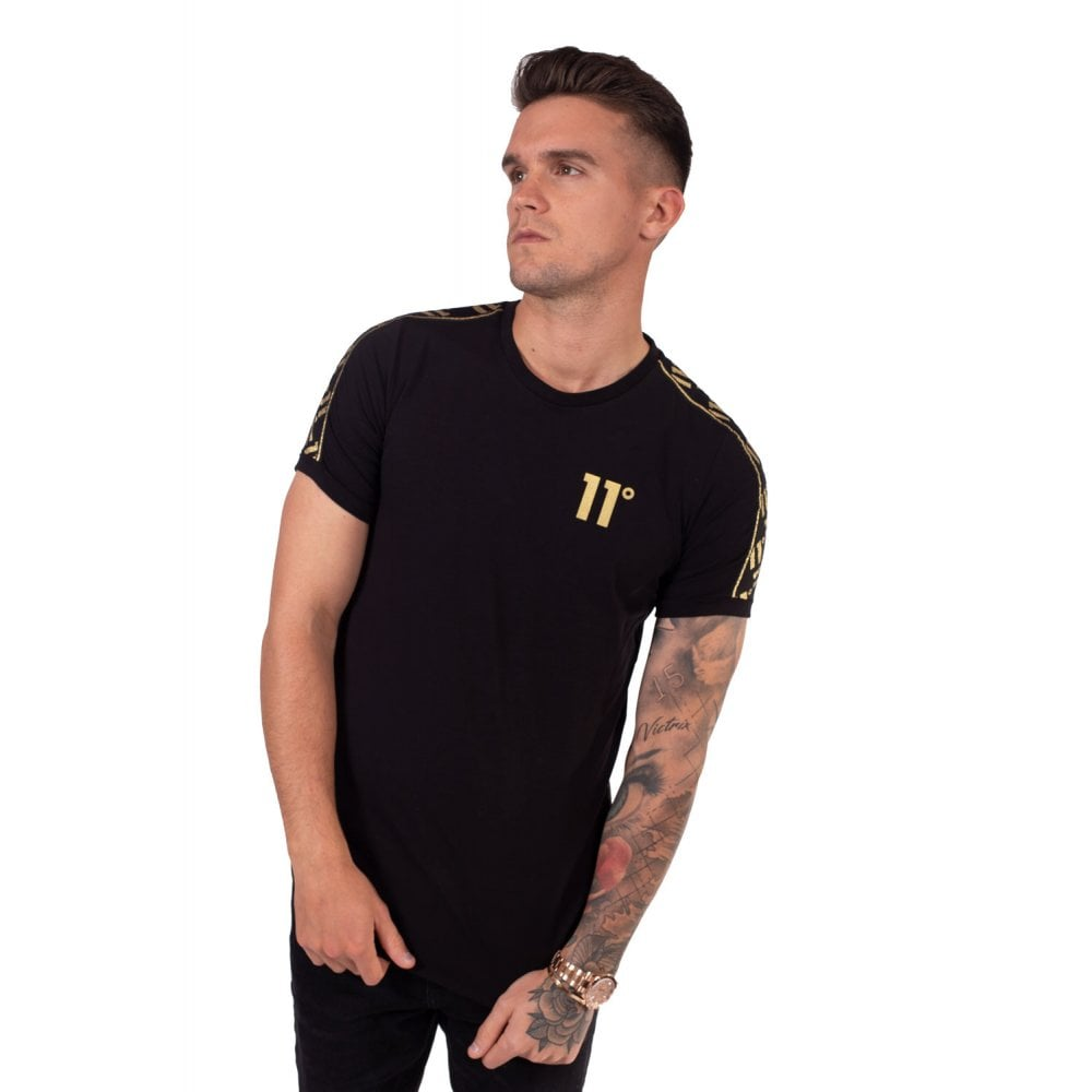 11 Degrees Sport Luxe Black Short Sleeve Tee. 11D-3105