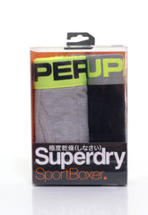 Sports Boxer Double Pack Grey Marl/Black by Superdry