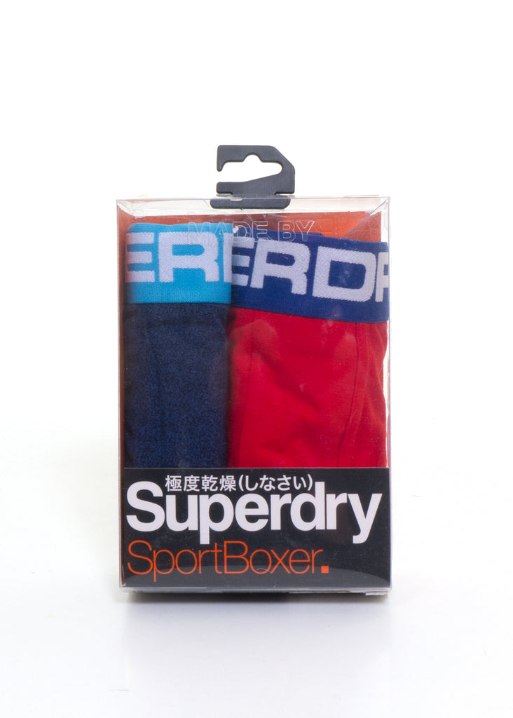 Sports Boxer Double Pack Sonic Blu/Red by Superdry