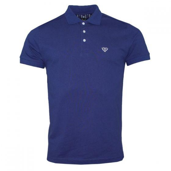Navy Blue Stretch Polo Shirt S/S