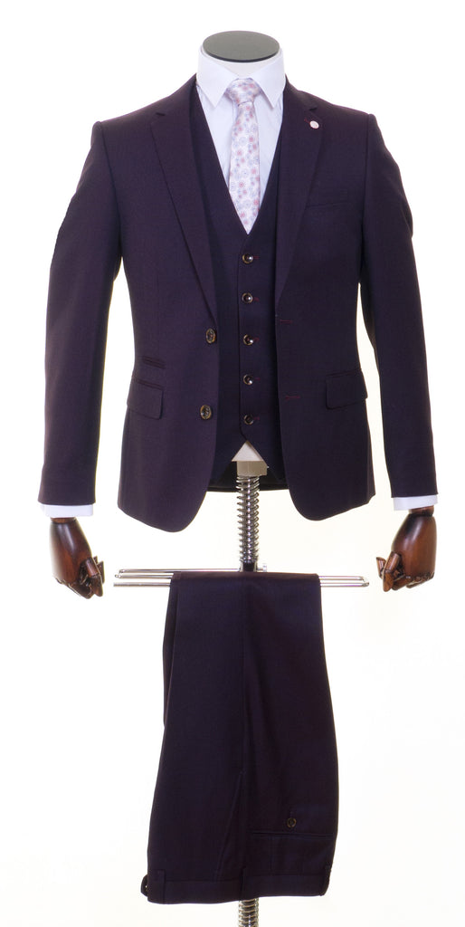 St Ree Wine 3 Piece Suit