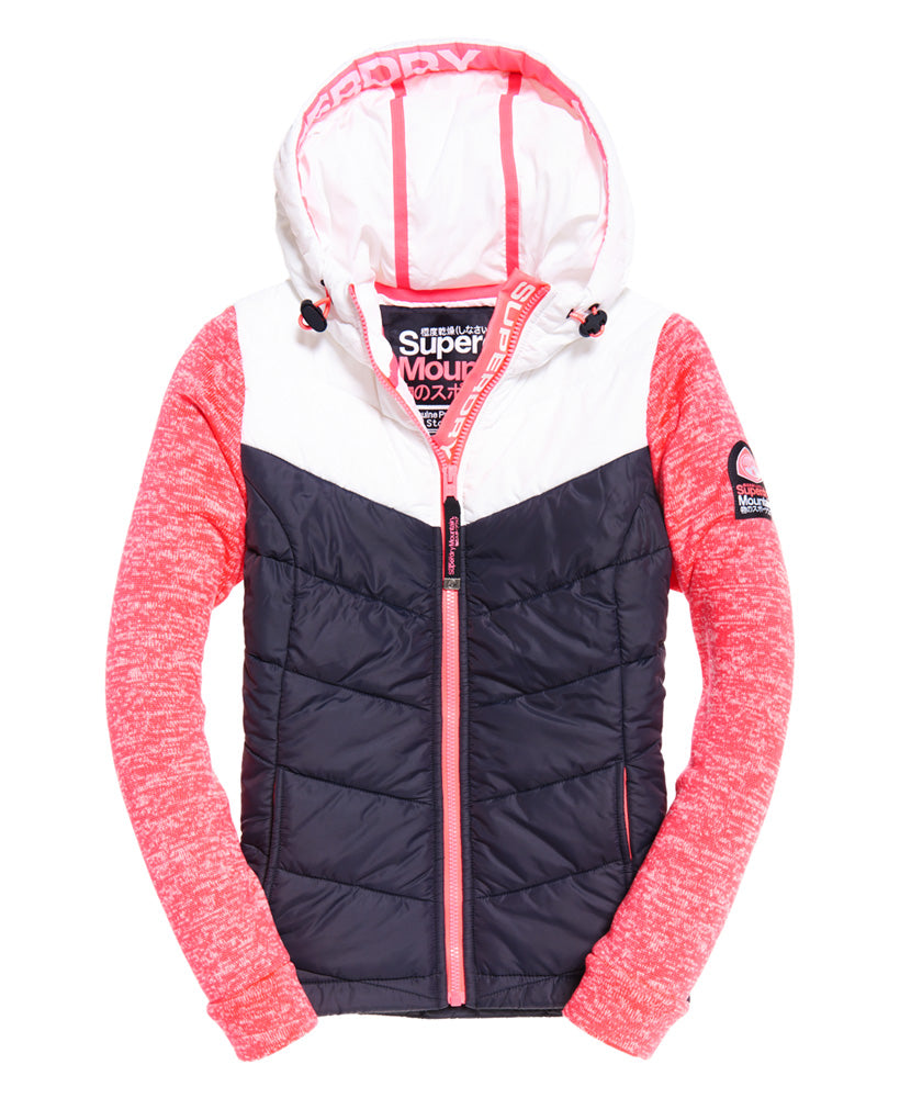 Storm Hybrid Colourblock Ziphood by Superdry Womens - Front