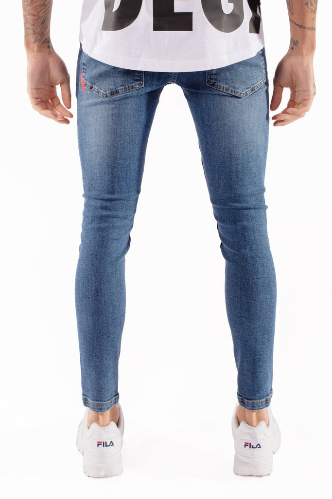Essential Super Stretch Mid Blue Skinny Jeans