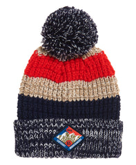 Summit Striped Navy Beanie by Superdry