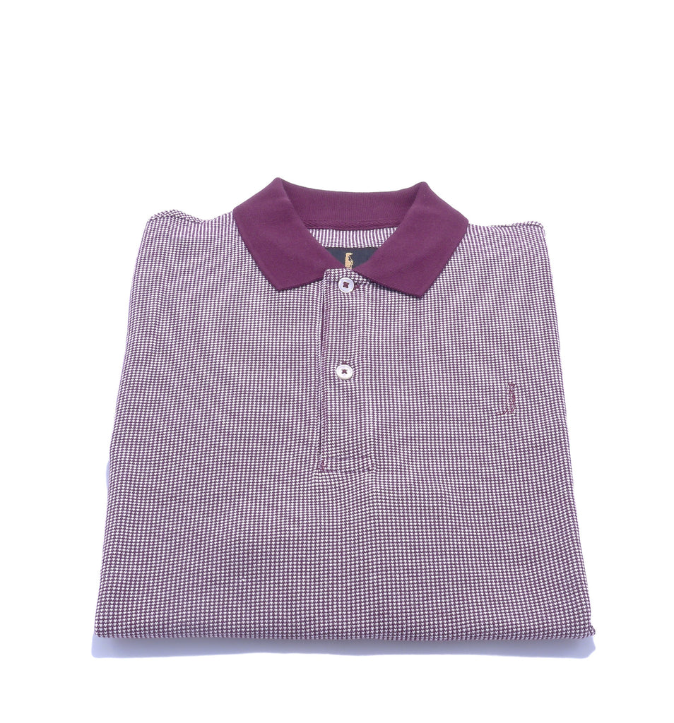 Sunny Regular Fit Burgundy Polo by 6th Sense