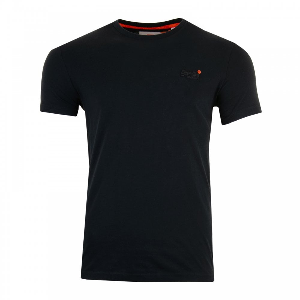 Vintage Emb Black Short Sleeve Tee