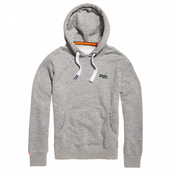 Orange Label Iced Grey Overhead Hoodie By Superdry.
