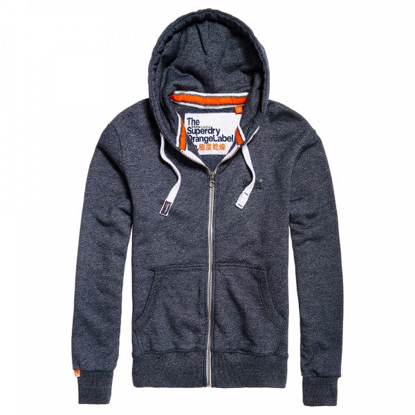 Superdry Orange Label Navy Grit Zip Hoodie