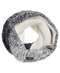 Superdry Womens Clarrie Cable Knit Snood, Denim Ombre