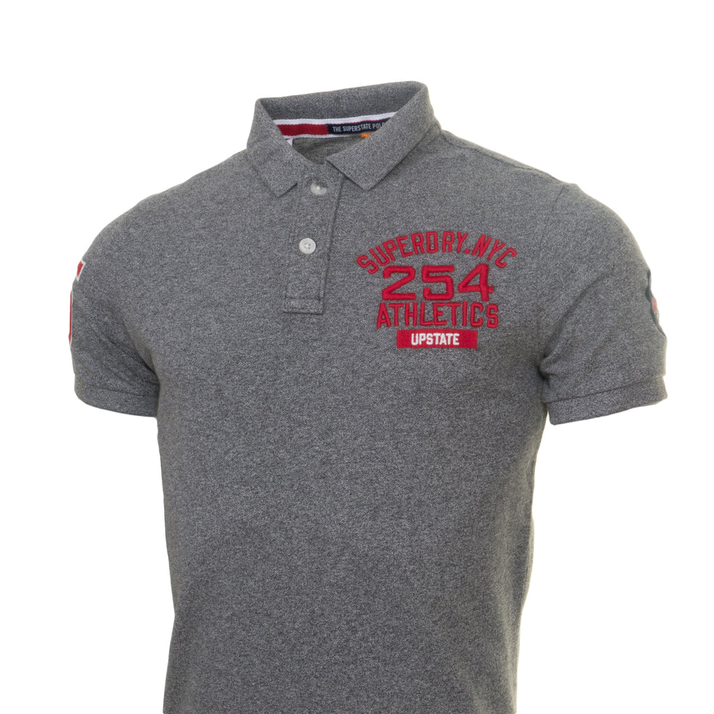 Classic Superstate Charcoal Polo by Superdry