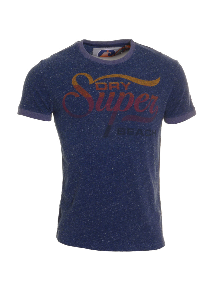 77 Swim Ringer Navy Tee By Superdry