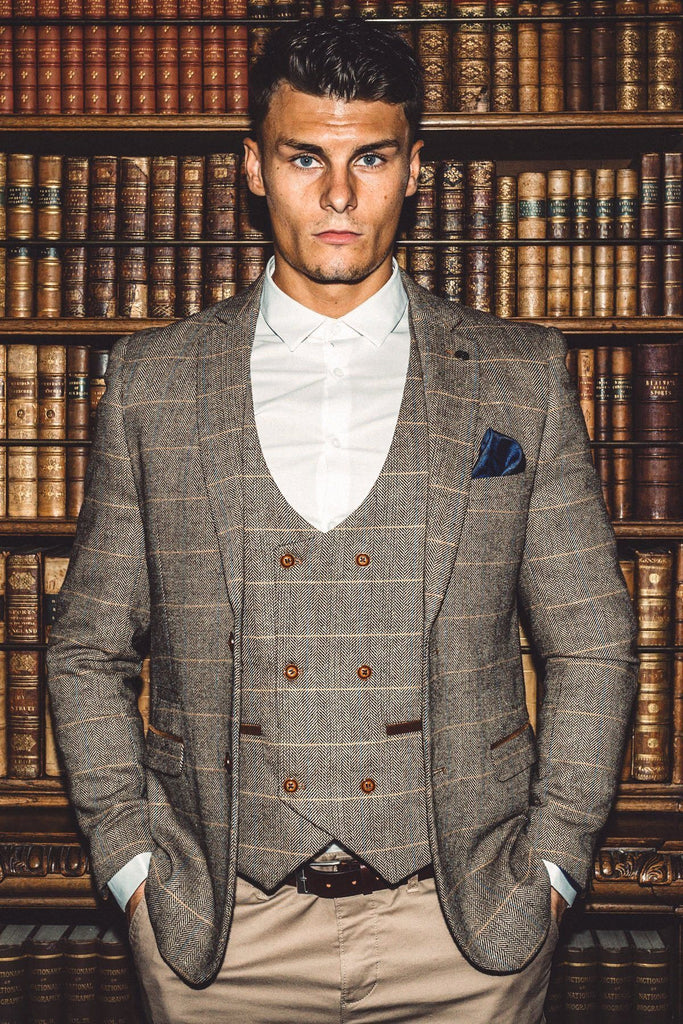 Ted Tweed Tan Blazer by Marc Darcy.
