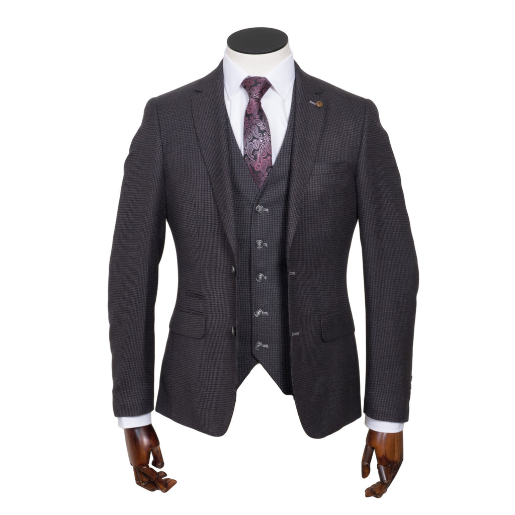 Tiger Tapered Fit Grey Suit by 6th Sense