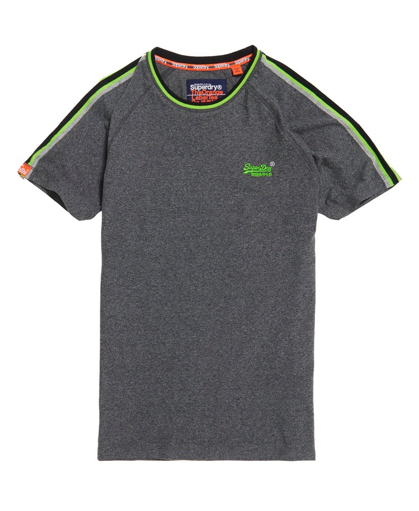 Tipped Sports Stripe Charcoal Tee