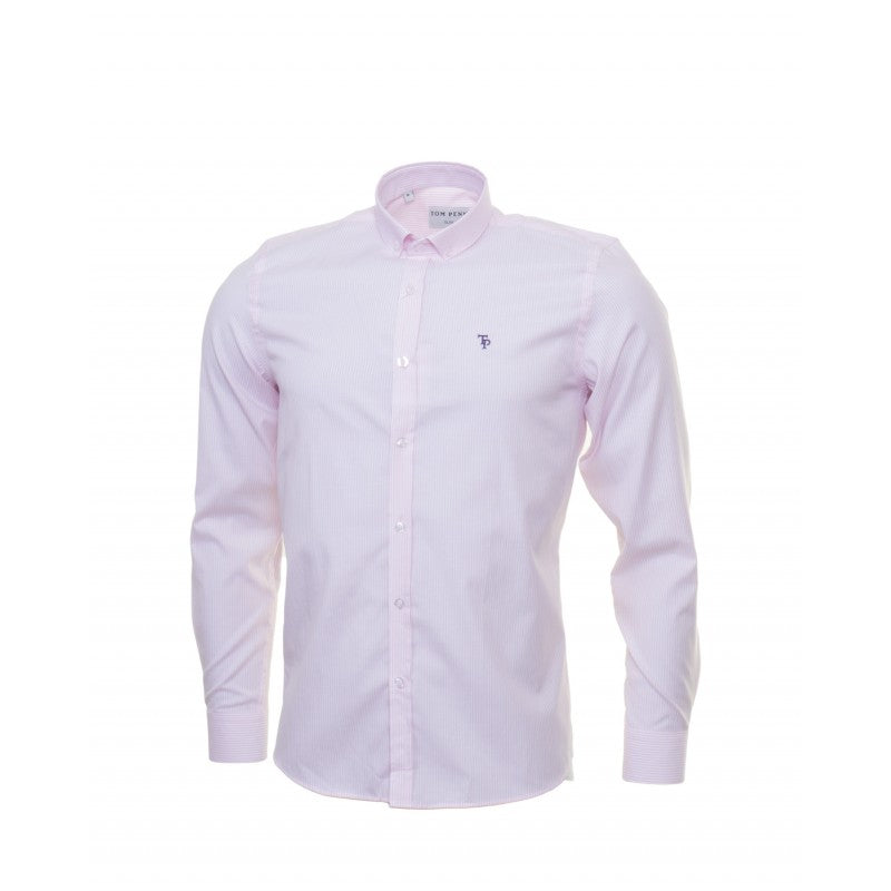 Pink Stripe Slim Fit Shirt by Tom Penn